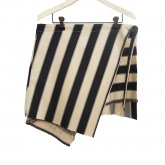 【30%OFF】REVERBERATE リバーバレイト Object Stripe Apron ブラック