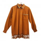 【30%OFF】REVERBERATE リバーバレイト Fringe Shirt Orange