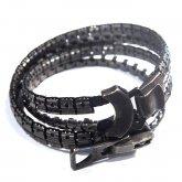 【受注】カガリユウスケ zip bracelet - Double ジップ ブレスレット ダブル BK