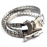 【ラスト1点】カガリユウスケ zip bracelet - Double ジップ ブレスレット ダブル SV
