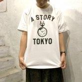 A STORY オリジナル Tシャツ 時計 ロゴ 懐中時計 GLOW