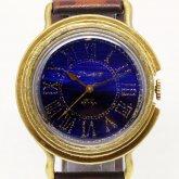 GENSO 夜明け プルシャンブルー ローマ数字文字盤 青い腕時計