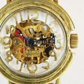 自動巻式 スケルトン 機械式腕時計 float see through ホワイト 真鍮 オートマ