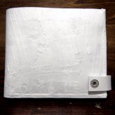 【受注】カガリユウスケ 二つ折り財布 スナップ付き ホワイト 白 white