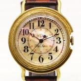 シェル文字盤の腕時計 Retro shell アラビア数字 メンズ レディース