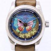 【刺繍の腕時計】Embroidery Studio μ・viola 高子 x A STORY TOKYO 『蝶』一点物