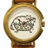 アート腕時計「至福のとき」イラストレーター 小笠原あり × A STORY TOKYO ネコの時計