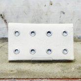 【受注】カガリユウスケ レザー 名刺入れ カードケース ho-A/wh 壁の穴 整列/白壁