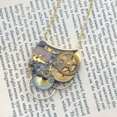 Tomoko Tokuda Steampunk necklace スチームパンクネックレス Sky Rose