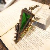 電氣エンドルフィン  空の欠片(緑) ネックレス