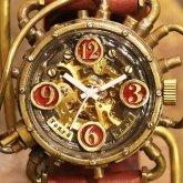 自動巻式 スチームパンク機械式腕時計 クロノマシーン 真鍮 オートマ