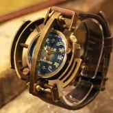 スチームパンク腕時計 電氣エンドルフィンxA STORY コラボウォッチ 後光「ロ」蒼