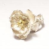 【受注】烏堂 星を孕む花 リング silver 白