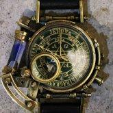 スチームパンク腕時計 電氣エンドルフィンxA STORY コラボウォッチ グリーン 黒魔術 魔法陣