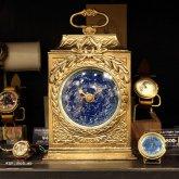 【蓄光】星空の置き時計 四角 天体観測 アンティーク ク クロック リプロダクト