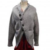 【30%OFF】Ventriloquist ヴェントリロクィスト British knit jacket ブリティッシュニットジャケット グレー
