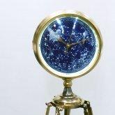 【蓄光】星空の置き時計 天体観測 アンティーク クリスマス 三脚 クロック リプロダクト インテリア