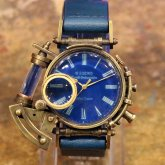 スチームパンク 腕時計 電氣エンドルフィン x A STORY コラボウォッチ ブルー ローマ