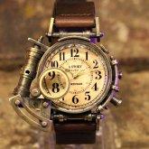 電氣エンドルフィン x A STORY コラボ腕時計 スチームパンクアクセサリー アンティーク レトロ 仕様
