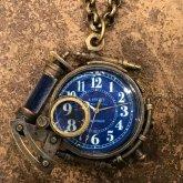 スチームパンク 時計 アラビア数字 蓄光文字盤 電氣エンドルフィン x A STORY ペンダントウォッチ