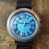 リアルモルフォ ローマ Lサイズ モルフォ蝶の羽根文字盤 シルバー925 銀製腕時計