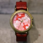 桜の和風 腕時計