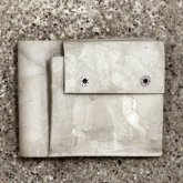 【受注】カガリユウスケ 二つ折り財布 グレイ 灰色 grey gray 革財布 革小物