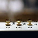 シカゴスクリュー(コンチョネジ、コンチョ用ネジ、組ネジ) 10組セット 足2mm、足2.5mm、足3mm|真鍮金具 レザークラフト レザーベルト ハンドクラフト
