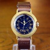 漢数字 文字盤の和風 腕時計 藍色 メンズ レディース 和時計 和数字