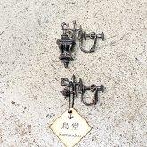 【受注】烏堂 ランタンシリーズ 耳飾り イヤリング silver