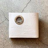 【受注】カガリユウスケ 二つ折り財布 + ダクト 白 ホワイト white  革財布