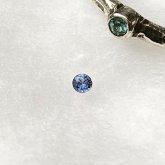 ベニトアイトの指輪 槌目リング 2mm シルバー 一粒ベニトアイト 指輪 SV