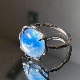 【一点物】飾屋しろがね スカイライト(蒼穹石)リング 指輪 10号 シルバーアクセサリー 指飾り
