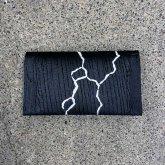 【ラスト1点】カガリユウスケ レザー 名刺入れ カードケース cc ブラック 黒 クラック 亀裂