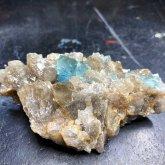 フローライト 原石 スモーキークォーツ共生 中国産 (Flourite) 寸法 : 80X40X25mm /約100 g 蛍石 鉱物 C