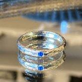アウイナイトの指輪 槌目リング 2mm シルバー 堀留め 一粒アウィン 指輪 SV