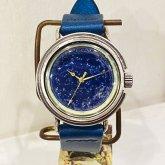 星の腕時計 天体観測 シルバー 蓄光文字盤 silver