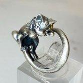 【ラスト1点】林檎屋  バステト シルバーリング バステトの指輪 シルバーアクセサリー