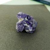 パープルフローライト 原石   中国産 (Flourite) 寸法 : 21×35×28mm /約21g 蛍石 鉱物 K