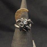 【ラスト1点】林檎屋 月とドラゴン 指輪 シルバー