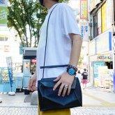【ラスト1点】カガリユウスケ ボロノイ(2D→3D)ハンドバッグ/ショルダーバッグ ブラック 黒壁 w20-02 bk