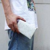 【受注】カガリユウスケ 二つ折り財布 mw-13 nwh ナチュラルホワイト【2020 有機的な個体】