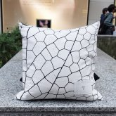 【受注】カガリユウスケ 壁布クッション トンボ ホワイト【2020 有機的な個体】