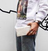 【受注】カガリユウスケ 薄型長財布  ナチュラルホワイト mw-14 nwh【2020 有機的な個体】