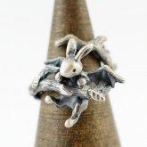 【ラスト1点】林檎屋 しがみつきウサギ シルバーリング