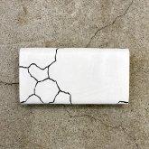 【ラスト1点】カガリユウスケ 長財布 亀裂彫り クラック ホワイト