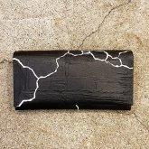 【ラスト1点】カガリユウスケ 長財布 亀裂彫り クラック ブラック
