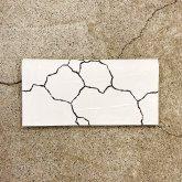 【受注】カガリユウスケ 薄型長財布 mw-14 cc/wh 亀裂彫り クラックホワイト【2020 有機的な個体】
