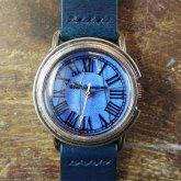 リアルモルフォ ローマ Mサイズ モルフォ蝶の羽根文字盤 シルバー925 銀製腕時計