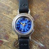リアルモルフォ ローマ SSサイズ モルフォ蝶の羽根文字盤 シルバー925 銀製腕時計